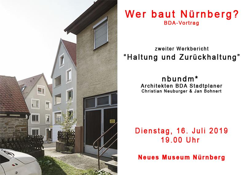 Werkvortrag im Neuen Museum Nürnberg